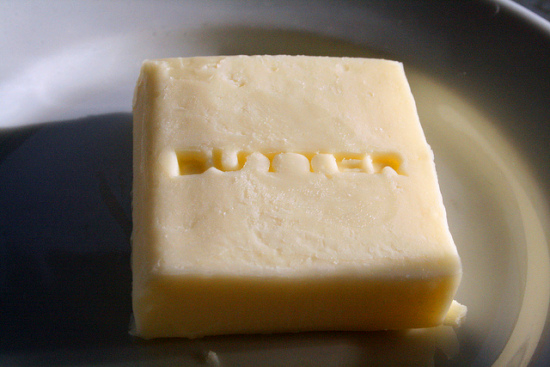 "asked him politely, ""but do you have any butter butter? Real butter ..."