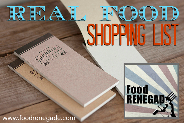 real-food-shopping-list