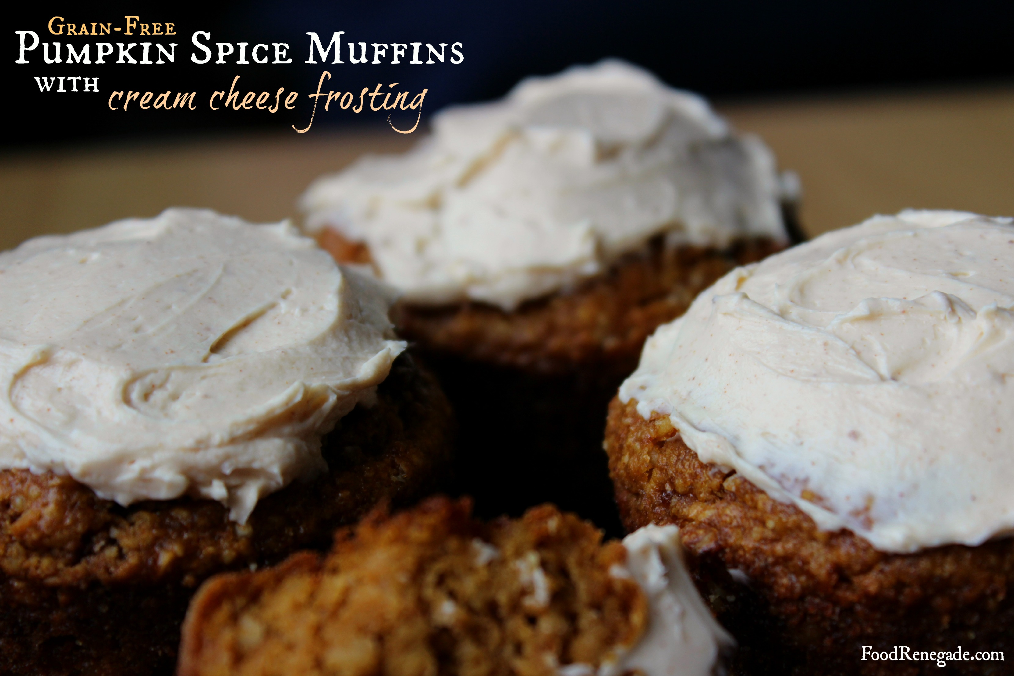 Grain-Free Pumpkin Spice Muffins with Cream Cheese Frosting | Food ...