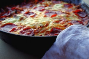 Pizza Cabbage Skillet