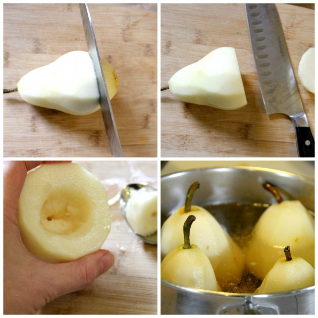Wine Poached Pear Collage