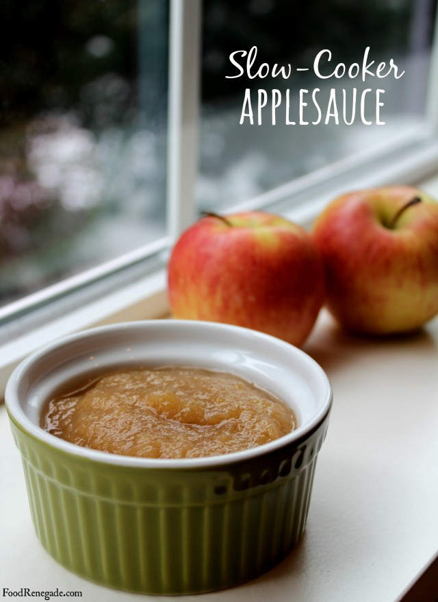 slow cooker applesauce pin