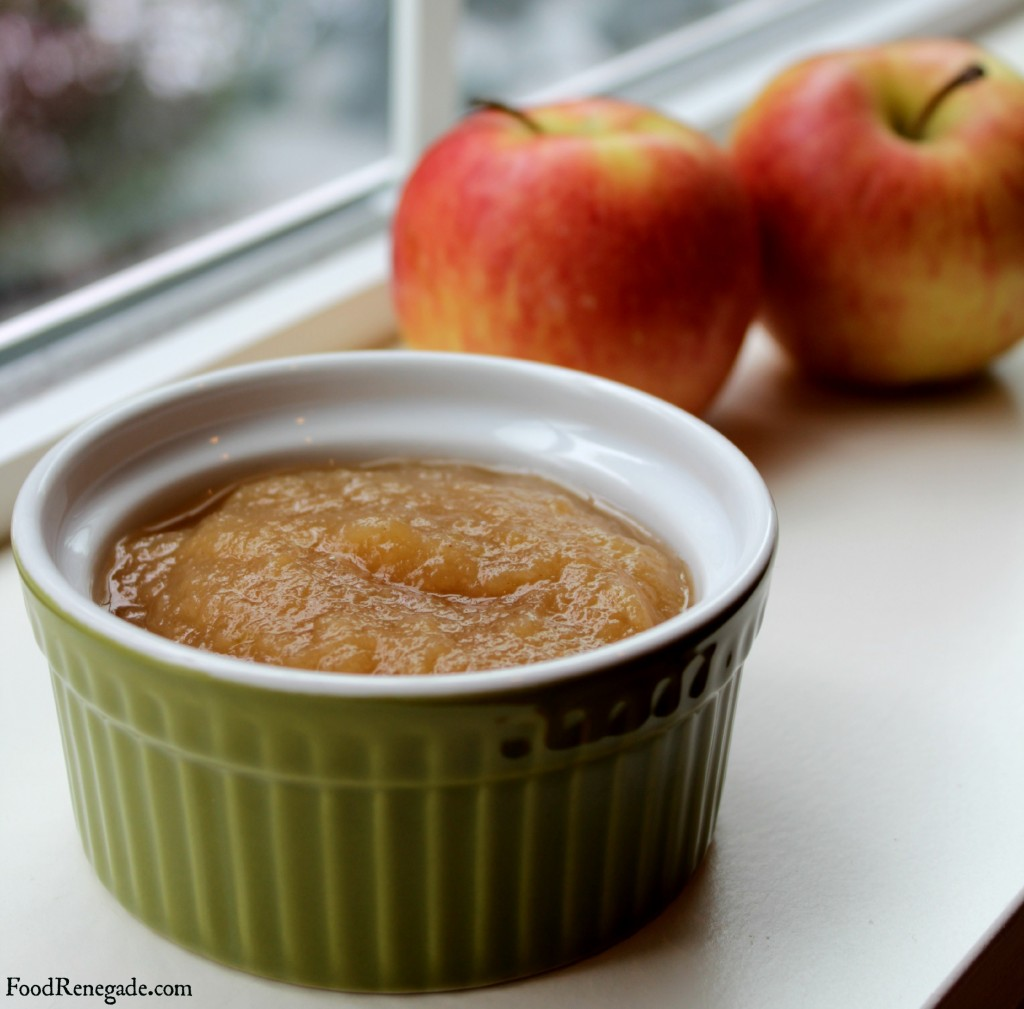 Slow Cooker Applesauce Top