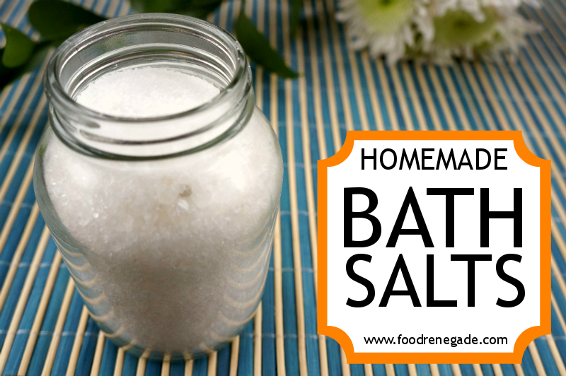 Bath Salts Recipe: Epsom & Dead Sea Salts with Frankincense & Lavender