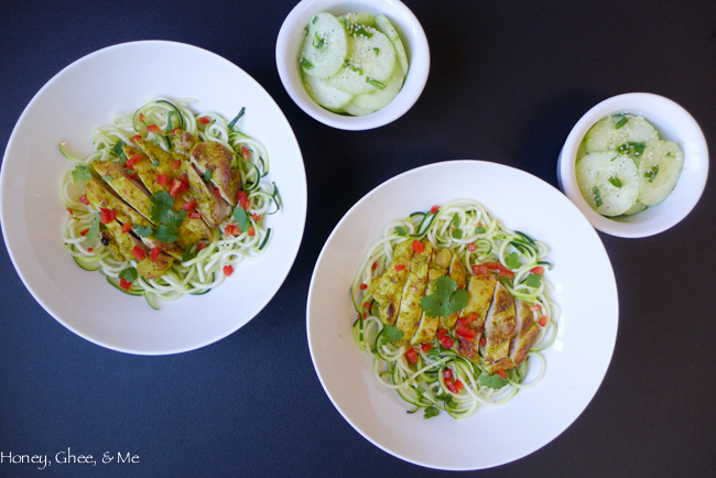 lemongrass chicken & zoodles